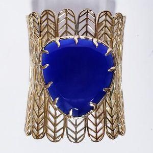 Kendra Scott Cobalt Blue Eliza Cuff Bracelet